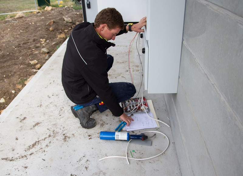 TasBGAS Electrical apprentice working hard